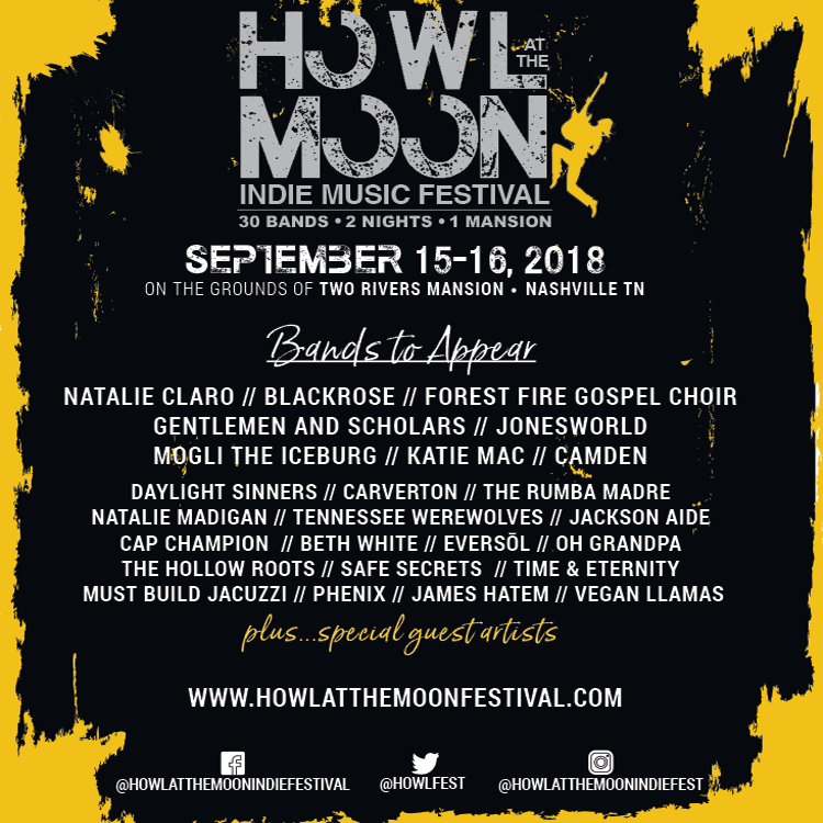Howl At The Moon 2018 Full Lineup